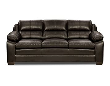 Simmons Upholstery Soho Bonded Leather Sofa, Espresso