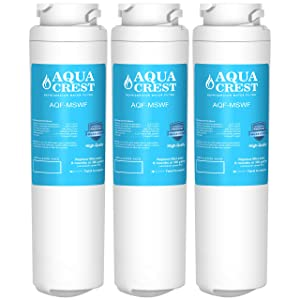 AQUACREST Replacement MSWF Refrigerator Water Filter, Compatible with GE MSWF SmartWater 101821B 101820A (Pack of 3)