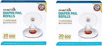 Amazon.com: Munchkin - Bolsas de recambio para pañales de ...