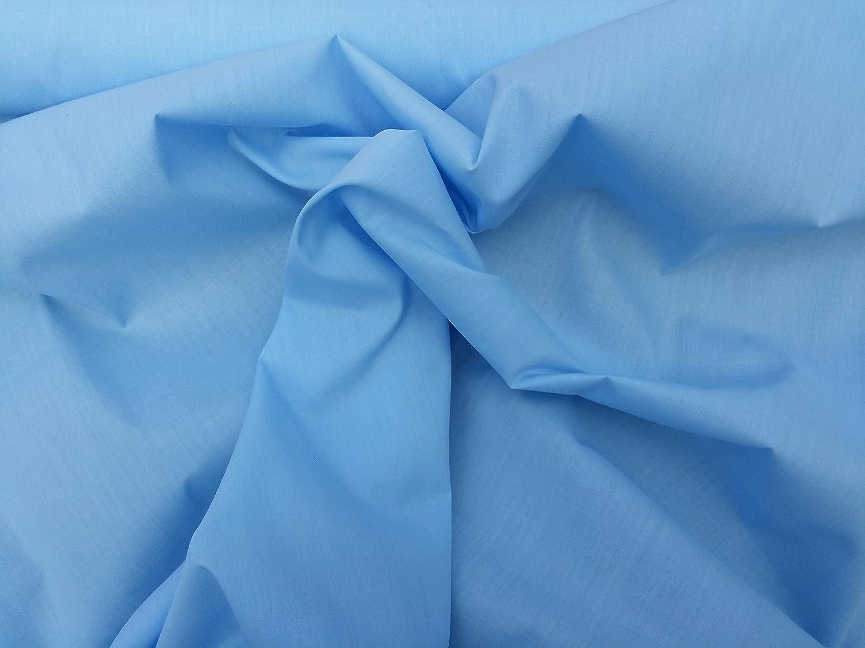 112cm wide Sky Blue Poplin Polycotton Fabric