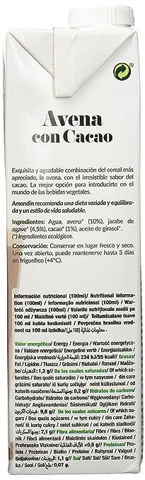 Amandin Bebida de Avena con Cacao - Paquete de 6 x 1000 ml - Total: 6000 ml: Amazon.es: Alimentación y bebidas