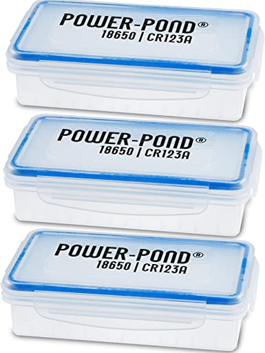 caja de almacenamiento de 3x 2x 18650 células IO para baterías protegidas (PCB) · El polvo y las salpicaduras de agua transparente POWER-POND®: Amazon.es: Electrónica