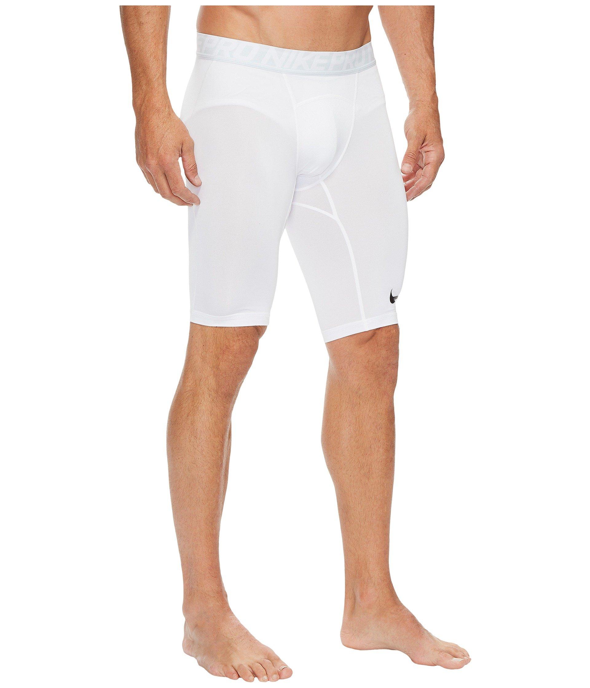 Nike Men's Pro Training Shorts, White/Pure Platinum/Black, Small by Nike (Image #5)