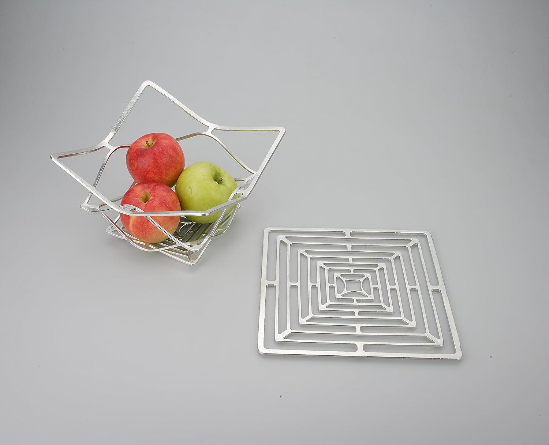 スクエア 能作 KAGO スクエア ( square ) 自在に曲がる 100% 錫 の アート KAGO イベント 祝い事 (L) B01A44AKAQLarge