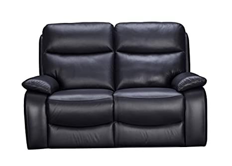Amazing Sofa Club The Dulwich Real Leather Recliner Black Leather 2 Seater Spiritservingveterans Wood Chair Design Ideas Spiritservingveteransorg