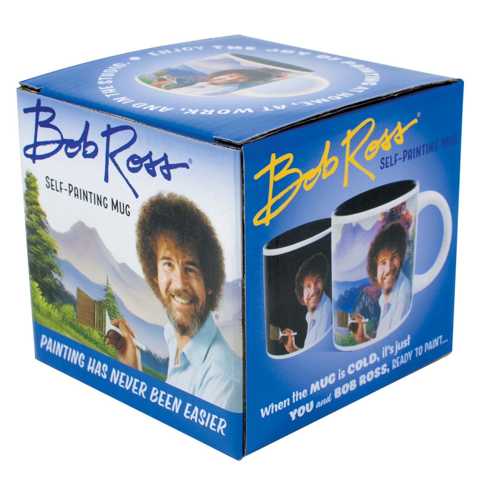 Bob Ross Heat Changing Mug - Add Coffee or Tea and a Happy Little Scene Appears - Comes in a Fun Gift Box by The Unemployed Philosophers Guild (Image #3)