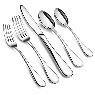 Artaste 56389 Rain 18/10 Stainless Steel Flatware 20 Piece Set, Service for 4, Silver