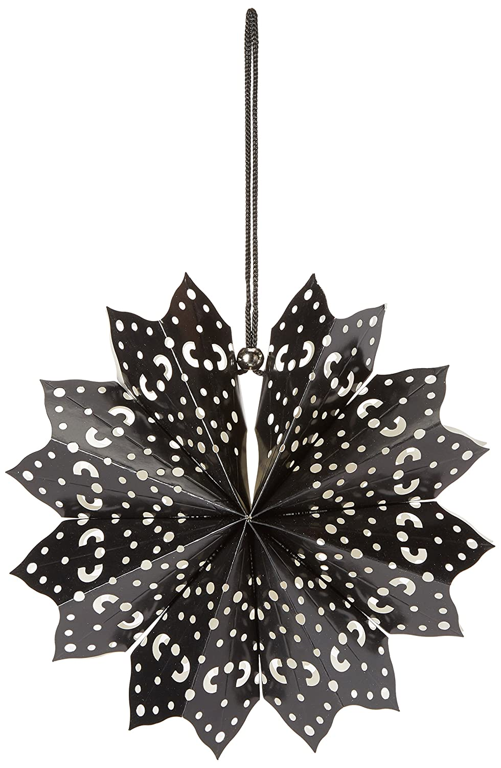 American Crafts 340576 Heidi Swapp 8-Point Star Paper Lantern, 11', Black 11
