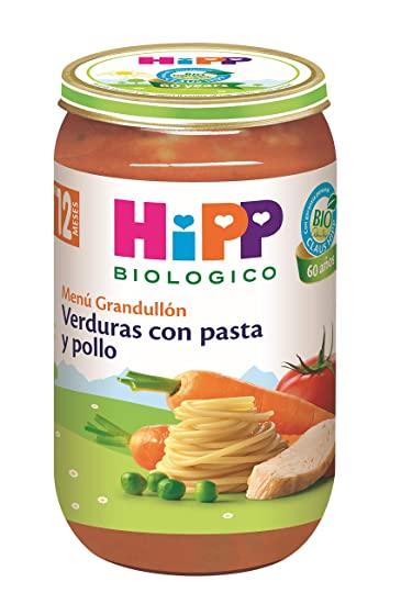 HiPP Biológico, Comida salada para bebé (Pasta, Pollo) - 12 de 250