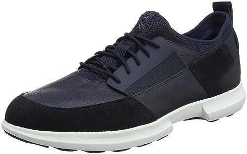 Geox U Traccia a, Zapatillas para Hombre, Azul (Navy), 43 EU