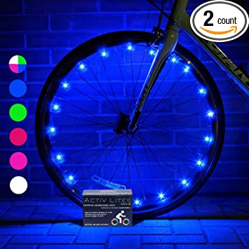 activ life bike wheel lights 2 tires blue best gifts for christmas