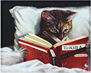 Empire Art Direct Late Night Thriller Cat Wall, Graphic Art Print on Wrapped Canvas Contemporary,Ready to Hang,Living Room,Be