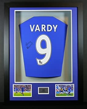 Jamie Vardy Leicester City Signed Shirt 3D Framed Display with COA ... d2a400a5c