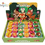 24 Pcs Woodland Animals Stampers for Kids