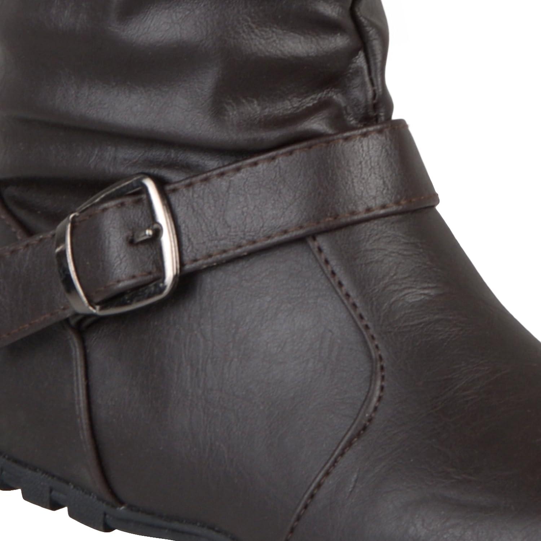 Journee Kids Girls Slouchy Accent Mid-Calf Boots KATIE