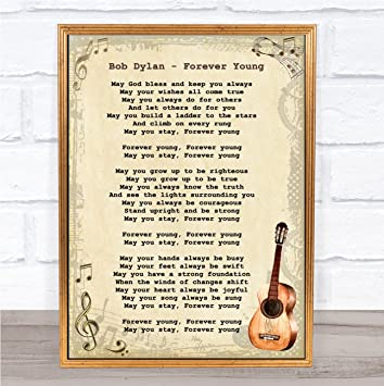 d0ceeff1f Bob Dylan Forever Young Song Lyric Vintage Print Wall Art Quote Gift  Present: Amazon.co.uk: Office Products