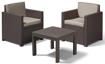 Allibert 188813 Victoria Ensemble table et chaises de balcon en ...