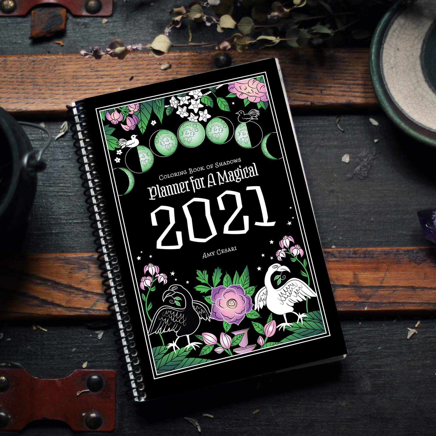 Coloring Book Of Shadows Planner For A Magical 2021 Amy Cesari 9781733201483 Amazon Com Books