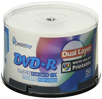 Smart Buy 50 Pack Dvd R Dl 85gb 8x DVD Plus Double Layer