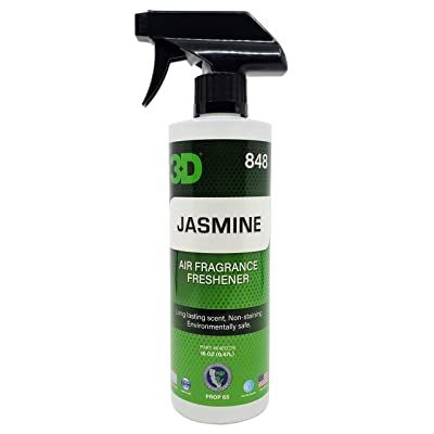 3D A/F (16oz.) | Water Based Odor Eliminator | Made in USA | All Natural | No Harmful Chemicals | Air Freshener (Jasmine Scent): Automotive