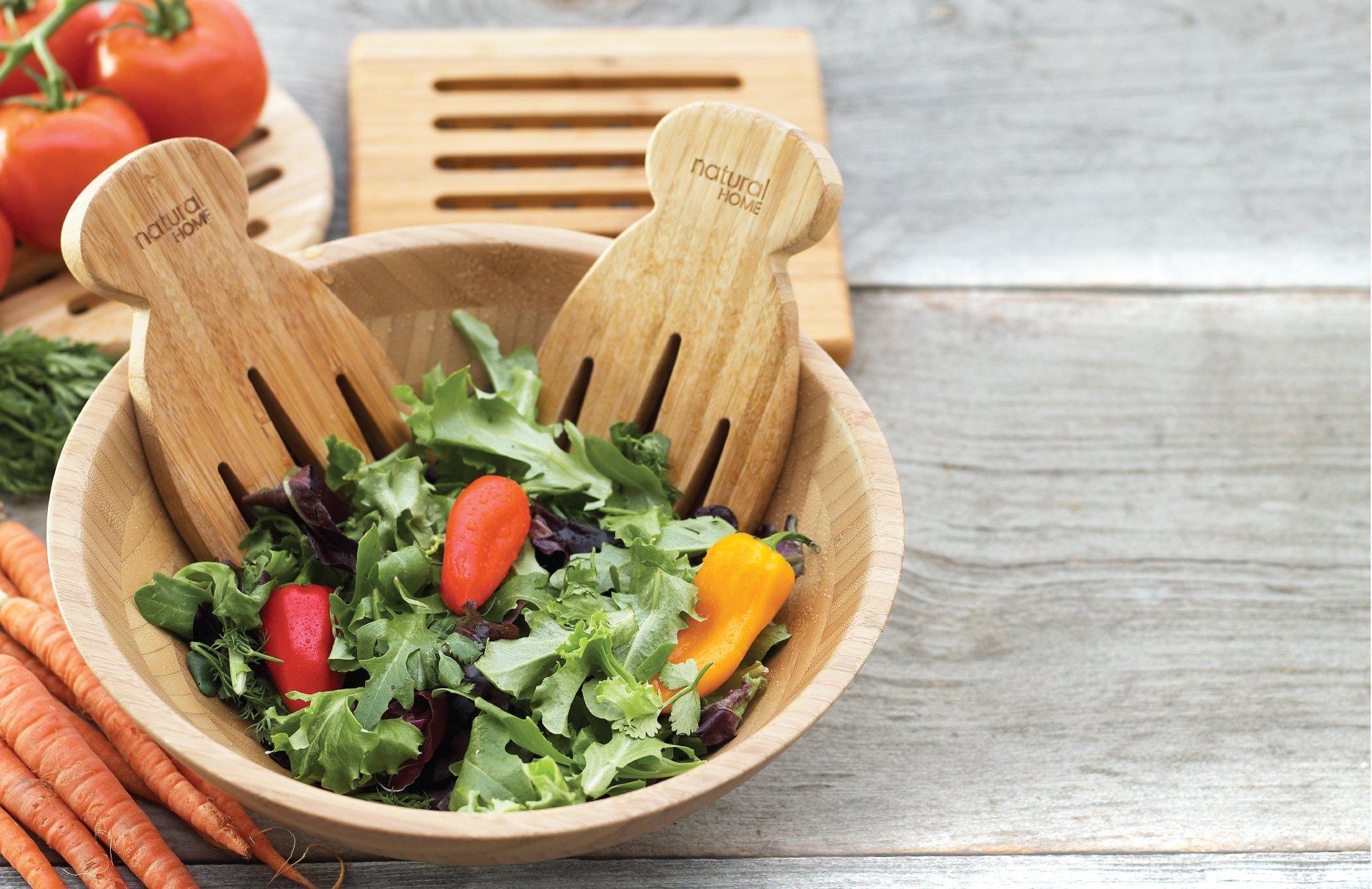 Natural Home Bamboo Salad Hands Set