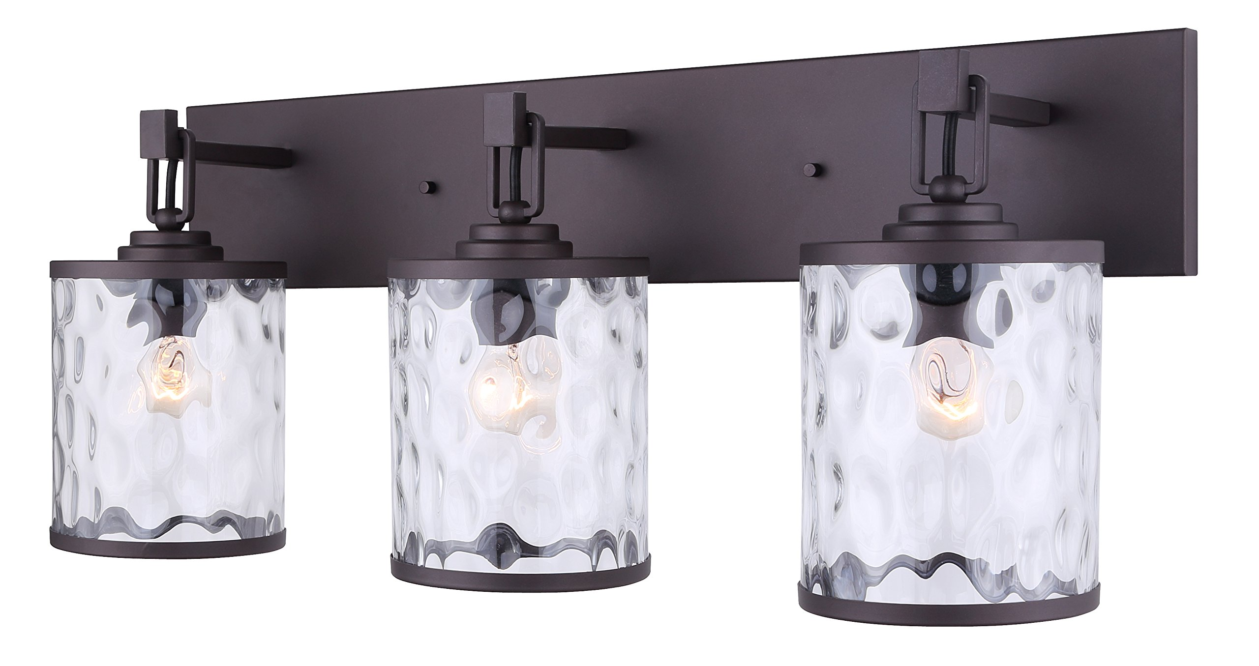 Canarm Cala 3 Light Vanity Light with Watermark Glass - Oil Rubbed Bronze - Easy Connect Included