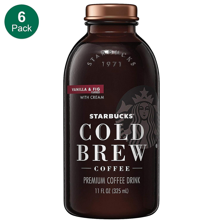 Starbucks Cold Brew Vanilla Fig Cream 11 Fl Oz Glass Bottles 6 Pack
