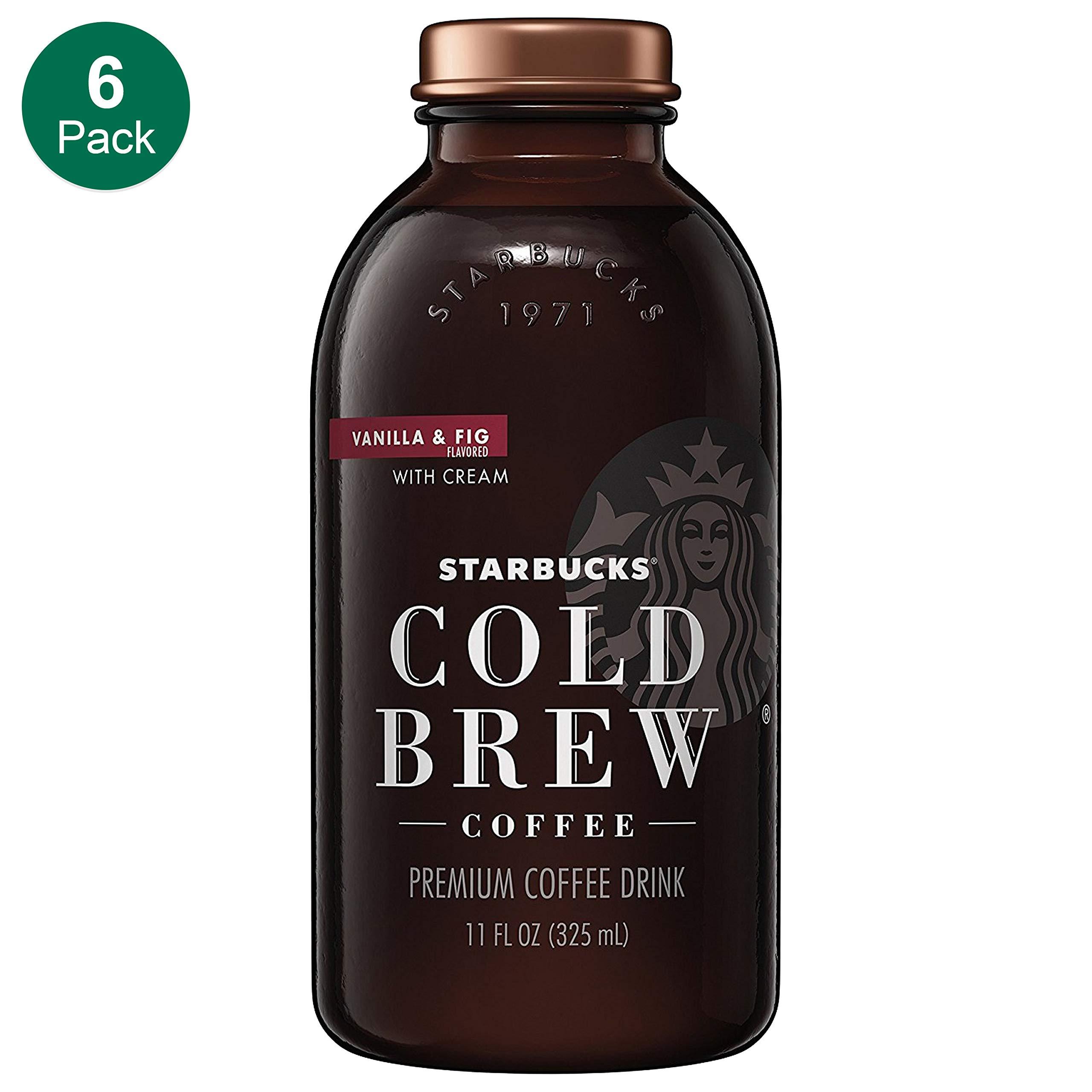 Starbucks, Cold Brew, Vanilla Fig & Cream, 11 fl oz. glass bottles (6 Pack) by Starbucks