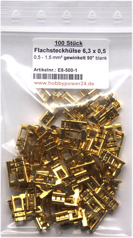 Flachsteckhülse 2,8mm abgewinkelt 90° Grad 0,3-1,5mm² Unisoliert  Kabelschuh