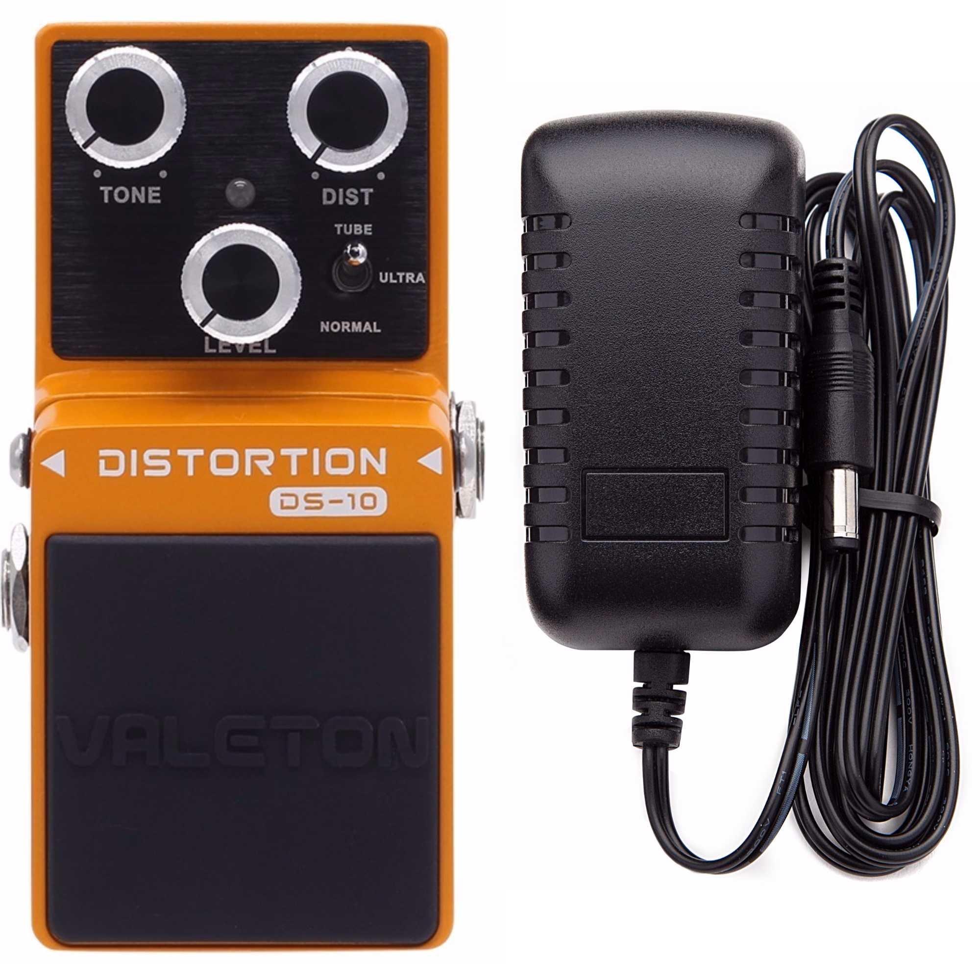 Valeton Loft DS-10 Distortion Pedal Includes Valeton 9V DC 1 Amp Power Supply by Valeton