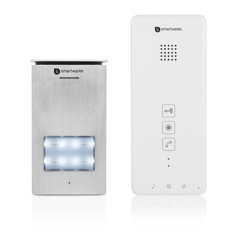 Unidad interior para porteros electró nicos Smartwares DIC-21102, Audio bidireccional, Fá cil instalació n con 2hilos, 52 melodí as, Unidad adicional para el portero electró nico serie Smartwares 'DIC' 52 melodías