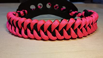 Muddy River Gear Archery Bow Wrist Sling Black and Pink Caged