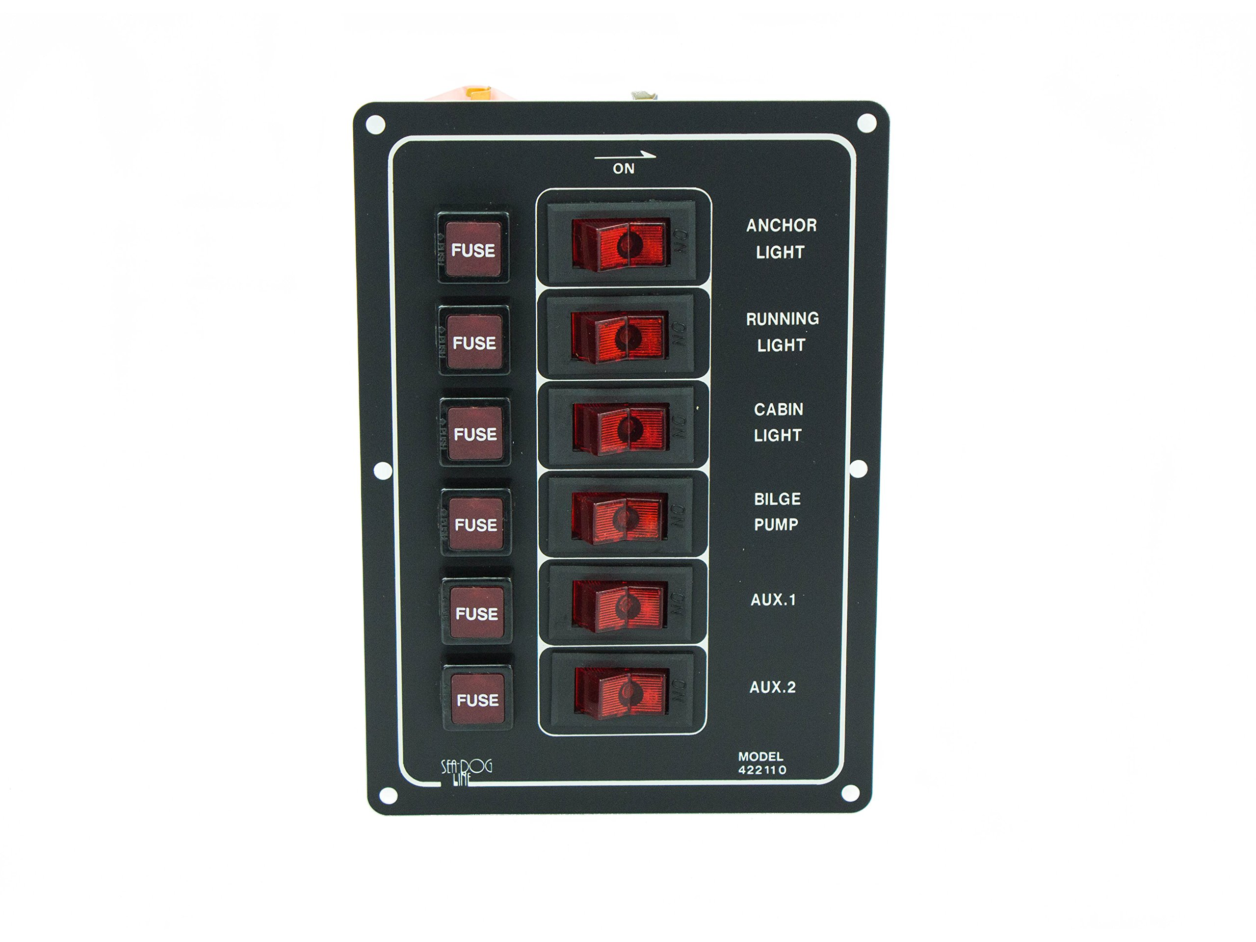 Five Oceans Marine 6 Gang Switch Panel w/Fuse - BC 67