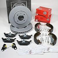 Autoparts-Online Set 60015744 Bremsscheiben 234 mm Bremsen Bremsbel/äge f/ür hinten die Hinterachse