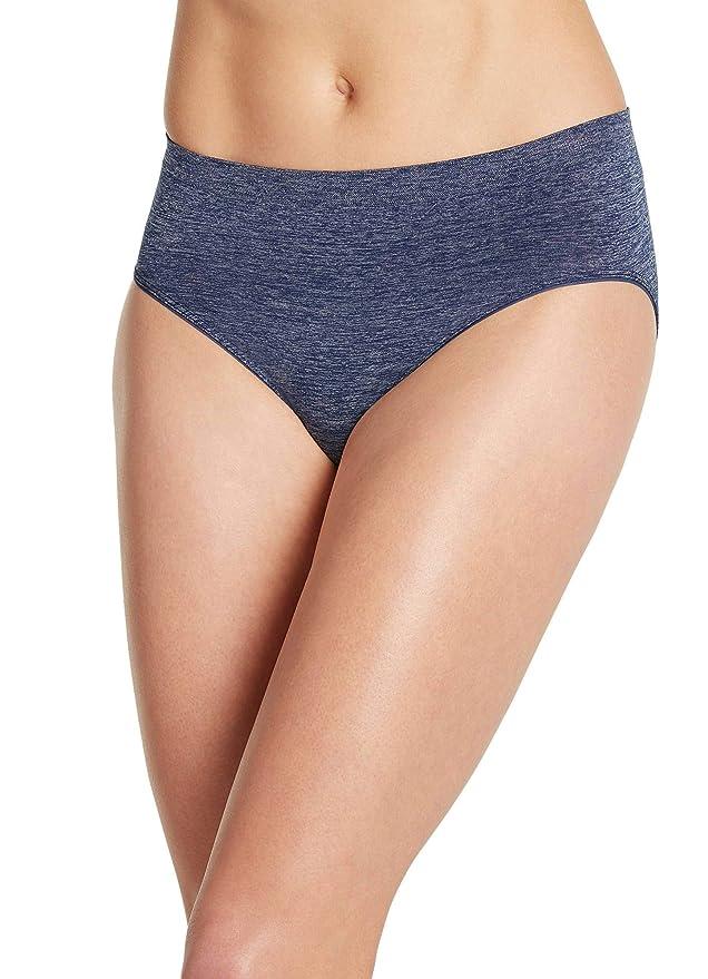 5db8315e6441 Jockey Women's Underwear Smooth & Shine Seamfree Heathered Hi Cut at Amazon  Women's Clothing store: