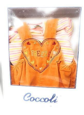 1849ea87f6 COCCOLI DI MELBY Maglia + Salopette in CINIGLIA Bambina 6 Mesi: Amazon.it:  Abbigliamento