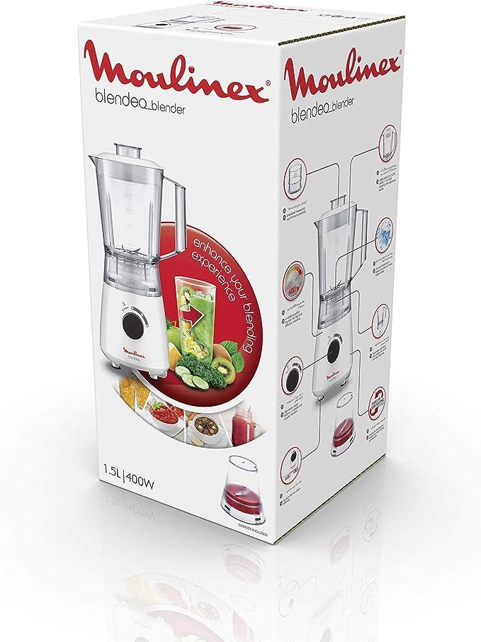 Moulinex Blendeo LM2A0110 Batidora de vaso de 400 W, cuchillas de ...