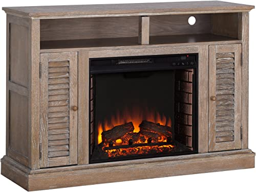 Southern Enterprises Antebellum Electric TV Stand fireplace