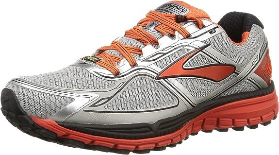 Brooks Ghost 8 GTX, Zapatillas de Running para Hombre, Plata/Naranja, 45 EU: Amazon.es: Zapatos y complementos