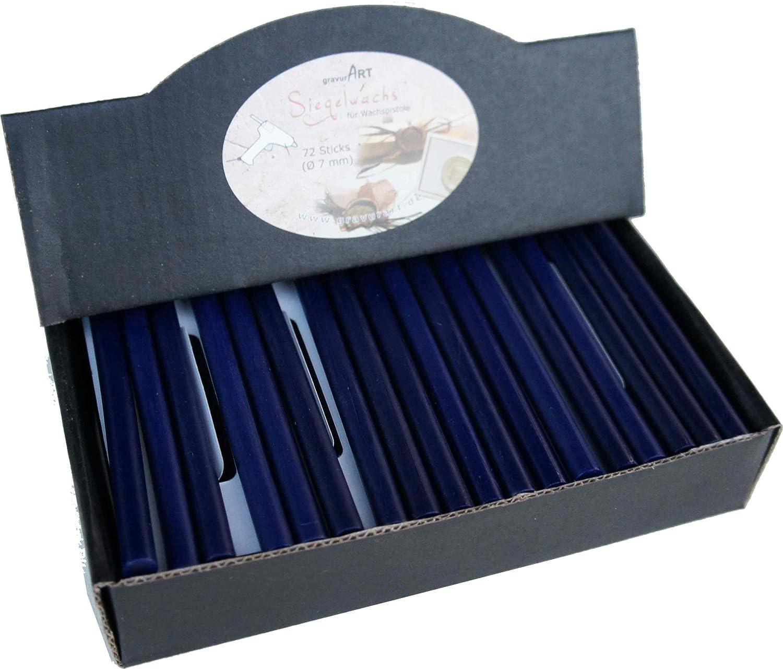 72 stecche Blu zaffiro madreperla. ceralacca per pistola flessibile gravurART