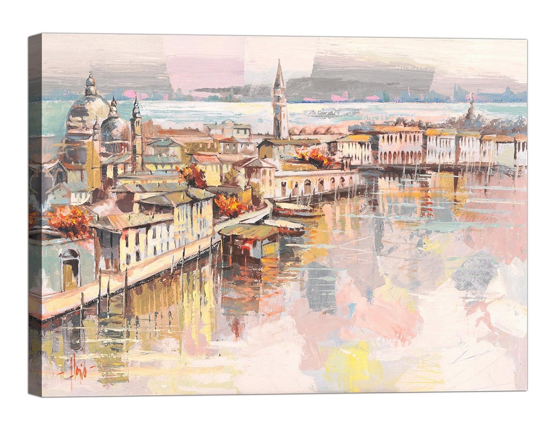 Rahmen Druck auf Leinwand mit Keilrahmen Luigi Florio Dolce Venezia 120x90 CM Basteln, Malen & Nähen