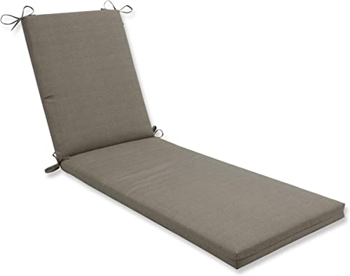 Pillow Perfect Outdoor Indoor Monti Chino Chaise Lounge Cushion 80x23x3,Tan,Taupe