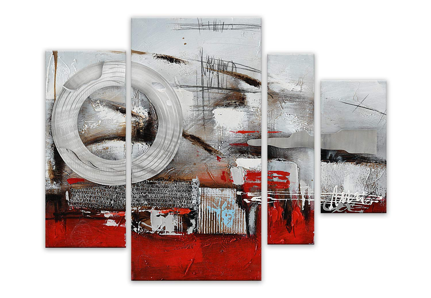 World Art TW60106 Aesthetic Wooden Frame Abstract 80x109x3.5 cm Size: 32 x 43 x 2 Inch