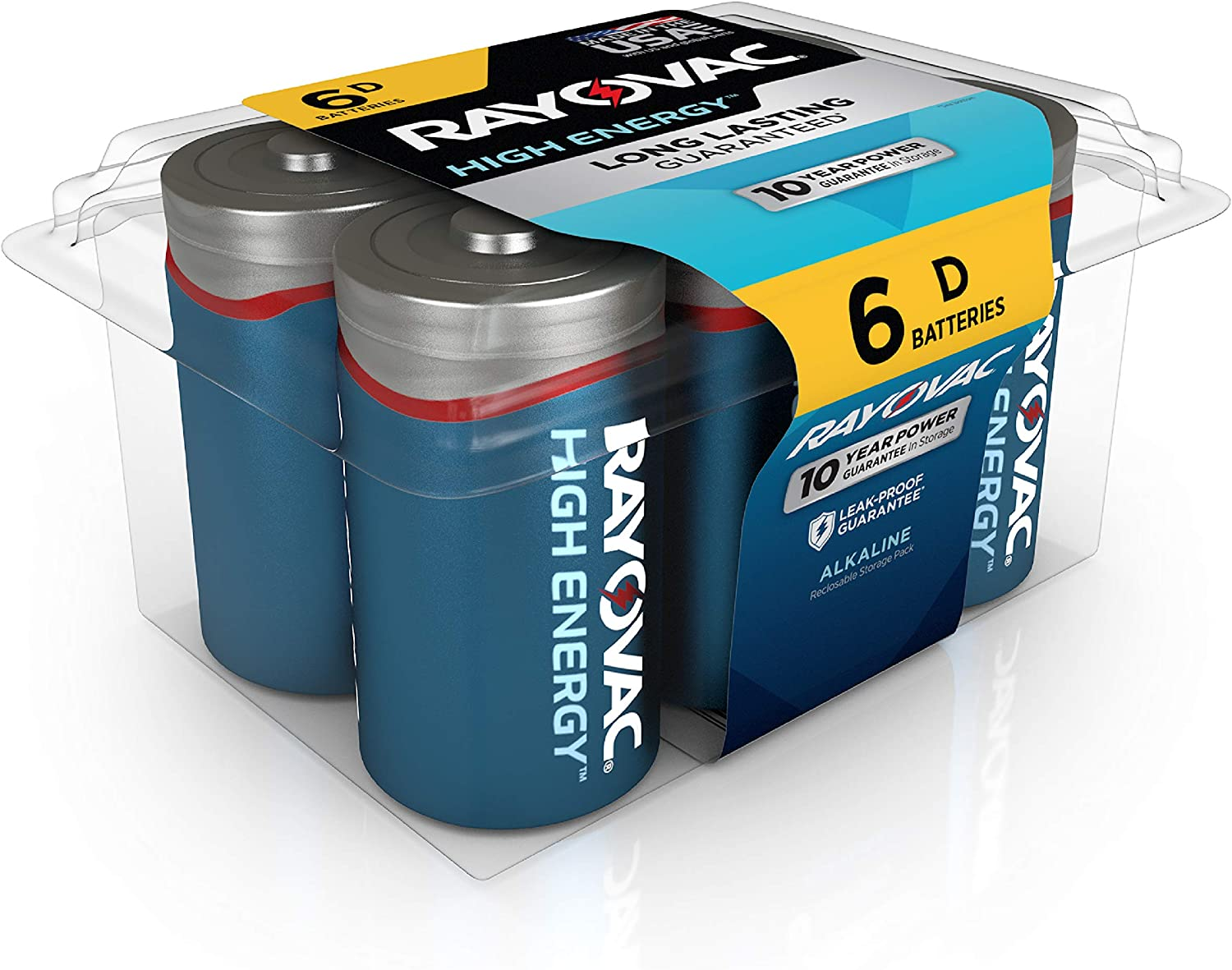 Rayovac D Batteries, Alkaline D Cell Batteries (6 Battery Count): Health & Personal Care