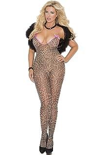 5d586511614 Xinkaishi Womens Leopard Bodystocking Bodysuit Tights Lingerie Crotchless  Pantyhose ·  9.99 · Zabeanco Sexy Women s Animal Print Bodystocking With  Satin ...