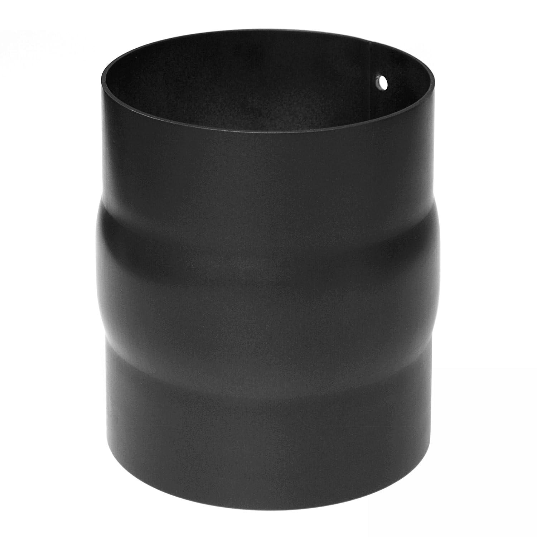 Adapter schwarz raik SH146-130-sw Rauchrohr 130 mm