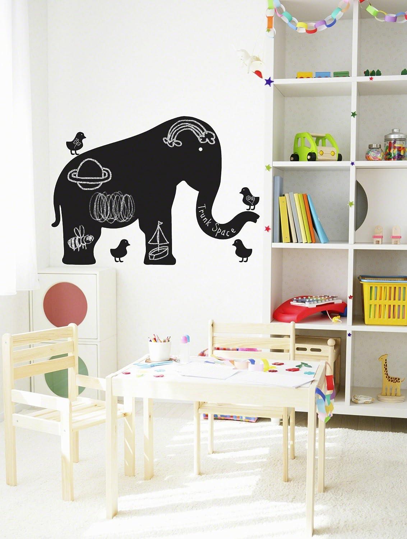 amazon com wallcandy arts chalkboard wall decal elephant 24 5 amazon com wallcandy arts chalkboard wall decal elephant 24 5 inch x 38 inch baby