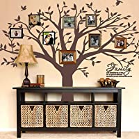 MAFENT Family Tree Wall Decal Quote- Family Like Branches On A Tree Lettering Tree Wall Sticker for Bedroom Decoration…