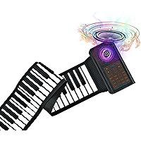 61 Keys Portable Piano Electric Piano Keyboard Hand Roll Piano Roll Up Keyboard Piano Foldable Piano Electronic…