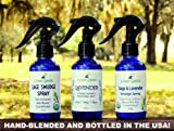 Lavender Essential Oil Room, Body and Linen Spray - Relaxing Pillow Mist - Refreshes, Calms and Soothes - Crystal Infused - Made with Pure Bulgarian Lavender Oil